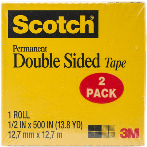 2 Pack Scotch Permanent Double-Sided Tape-665-2 - 021200527821