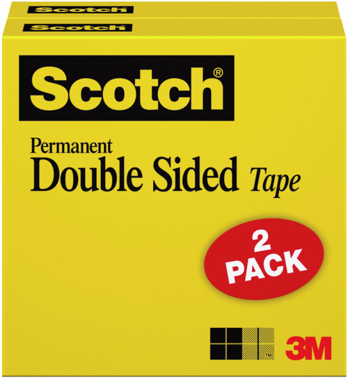 2 Pack Scotch Permanent Double-Sided Tape-665-2