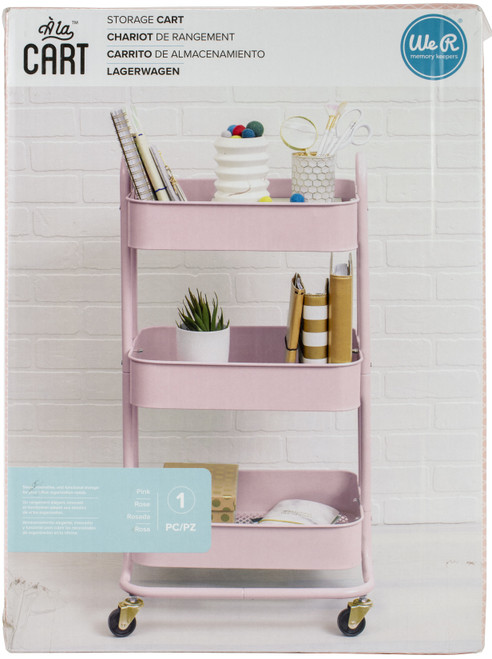 We R A La Cart Storage Cart With Handles-Pink -WR661304 - 633356613046