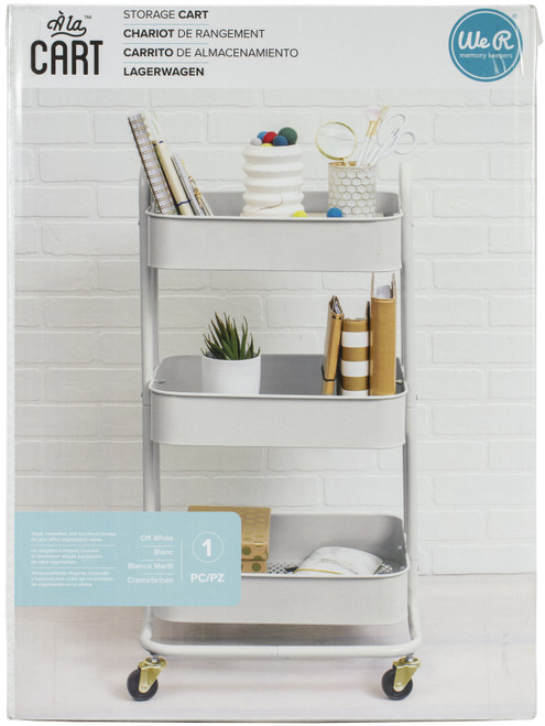 We R A La Cart Storage Cart With Handles-Off White -WR661305 - 633356613053