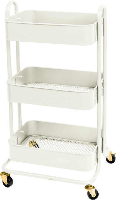 We R A La Cart Storage Cart With Handles-Off White -WR661305