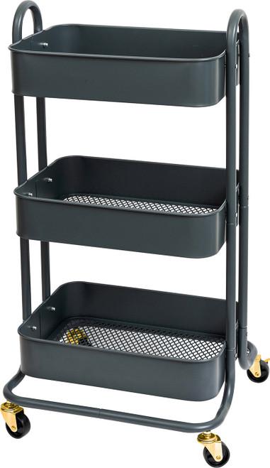 We R A La Cart Storage Cart With Handles-Burnt Ash -WR661306