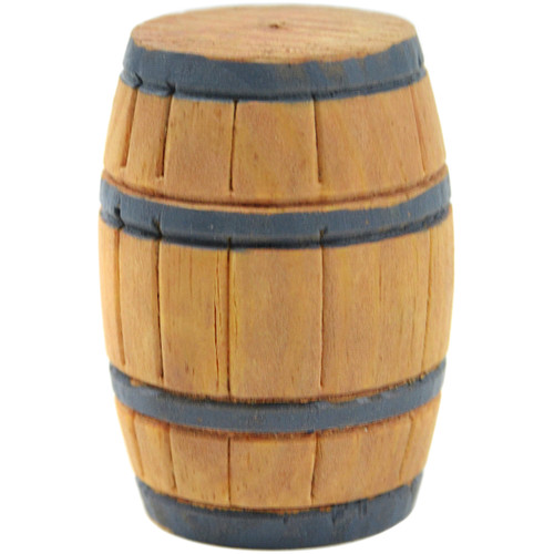 "3 Pack Mini Garden Barrel 1.25""X2""-Wood -MD50440"
