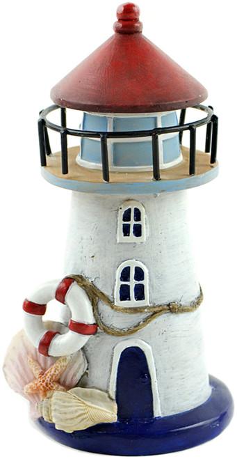 "2 Pack Fairy Garden Nautical Lighthouse W/Seashells-6"" -55871 - 684653558714"