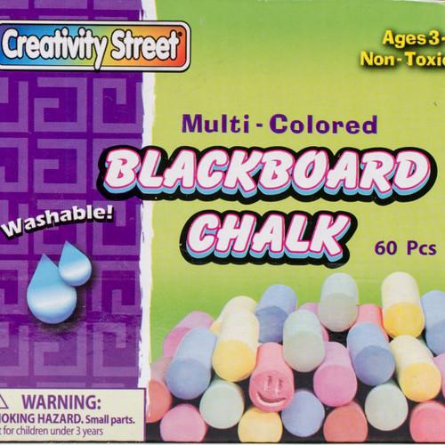 6 Pack Blackboard Chalk 60/Pkg-Assorted Colors -1761 - 021196017610