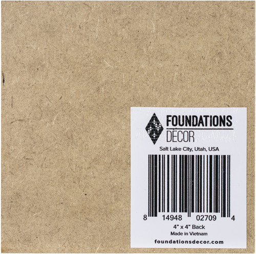 """12 Pack Foundations Decor Magnetic Shadow Box Board Blank 4""""X4""""-Middle Position -027094 - 814948027094"""