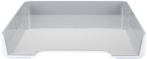 """4 Pack Fusion Letter/Paper Tray 10""""X12.75""""X1.75""""-White W/Gray Interior -FLTRAY-37522 - 091141375225"""