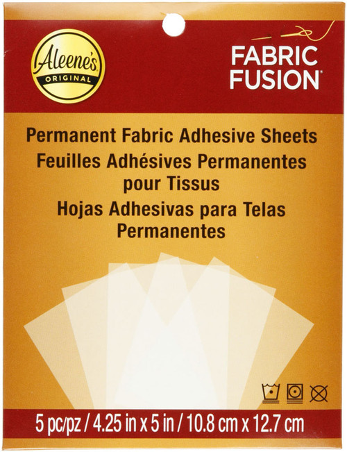 """3 Pack Aleene's Fabric Fusion Sheets-4.25""""X5"""" 5/Pkg -29135 - 017754291356"""