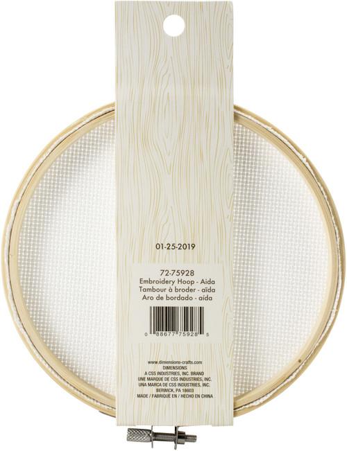 "Dimensions Embroidery Hoop W/Aida 6""-White -72-75928"