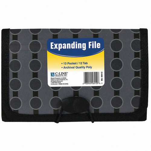 13-Pocket Coupon Expanding File-Circles -56412 - 038944564128