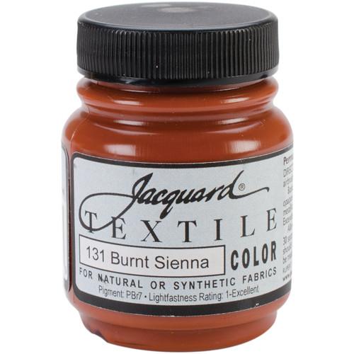 Jacquard Textile Color Fabric Paint 2.25oz-Burnt Sienna -TEXTILE-1131 - 743772027799