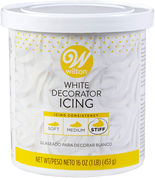 Ready-To-Use Decorator Icing 16oz-White -W4369 - 070896243690