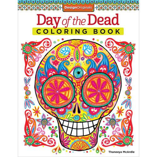 Design Originals-Day Of The Dead Coloring Book -DO-5496 - 0238630549669781574219616