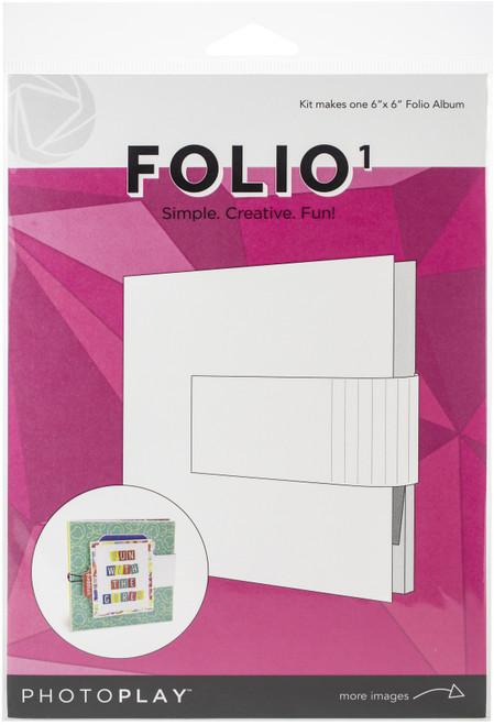 "PhotoPlay Maker Series Folio 6""X6""-White -PPP9451 - 792436594511"
