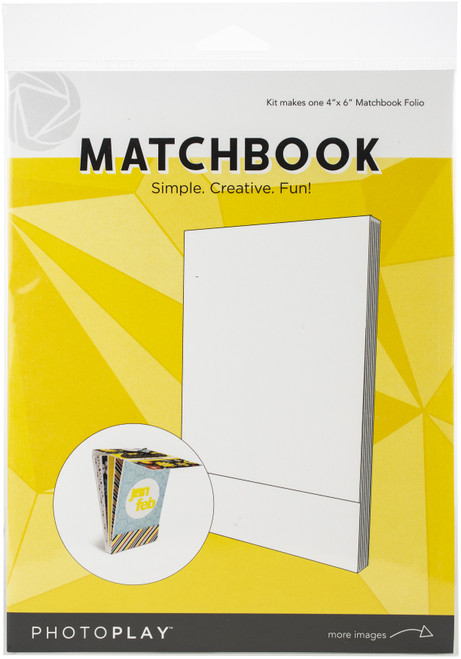 """PhotoPlay Matchbook 4""""X6""""-White, 6 Pages -PPP9452 - 792436594528"""