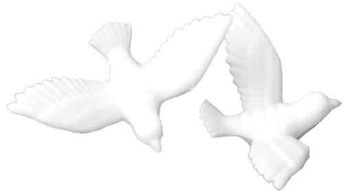"""White Doves 2"""" 12/Pkg-WB212"""