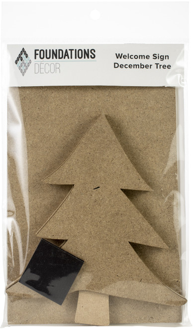 Foundations Decor Welcome Sign Kits-December Pine Tree -WSK-02770 - 814948027704