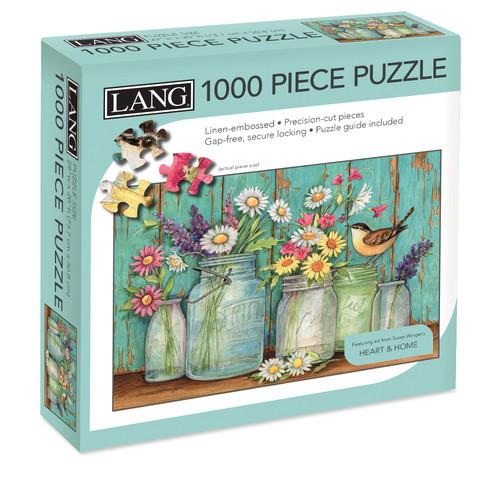 """Jigsaw Puzzle 1000 Pieces 29""""X20""""-Mason Flowers -50380-18"""