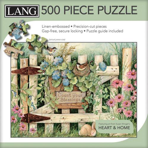 "Jigsaw Puzzle 500 Pieces 24""X18""-Garden Gate -50391-12 - 739744173526"