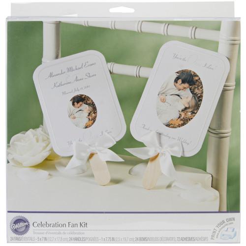 2 Pack Celebration Fan Kit Makes 24-White -W516 - 070659985546