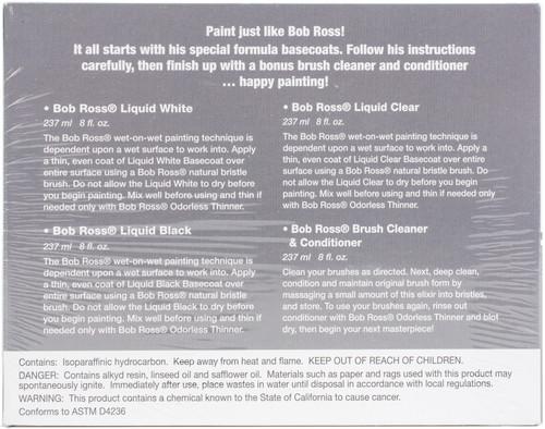 Bob Ross Liquid Value Pack 118ml 4/Pkg-4/Pcs -52006240