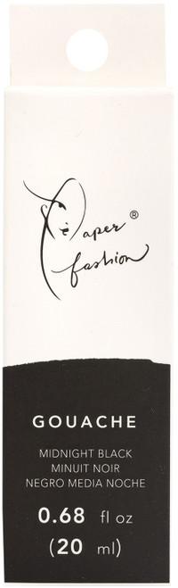 Paper Fashion Gouache Paint .68oz -Midnight Black -ACPFG349-49305 - 718813493055