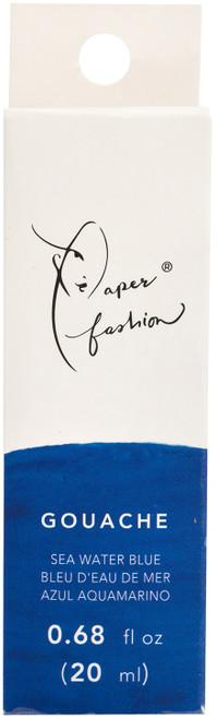 Paper Fashion Gouache Paint .68oz -Seawater Blue -ACPFG349-49334 - 718813493345