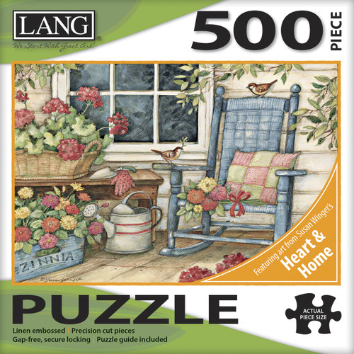 """Jigsaw Puzzle 500 Pieces 24""""X18""""-Rocking Chair -50391-21 - 739744173618"""