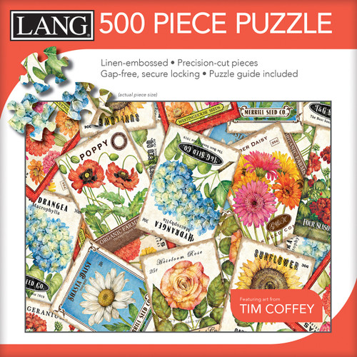"""Jigsaw Puzzle 500 Pieces 24""""X18""""-Seed Packets -50391-22 - 739744173625"""