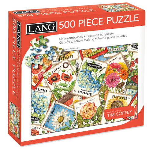 """Jigsaw Puzzle 500 Pieces 24""""X18""""-Seed Packets -50391-22"""