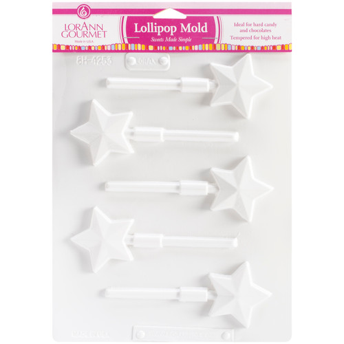 Lollipop Sheet Mold-Star 5 Cavity (1 Design) -LOLLI5-5579 - 023535055796