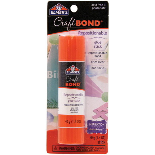 Elmer's CraftBond(R) Repositionable Glue Stick-1.4oz -E4021 - 026000040211