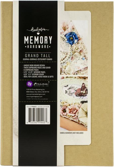 "Prima Memory Hardware Chipboard Album 9""X6.25""X2.75""-Kraft Grand Tall W/6 Pages -994433 - 655350994433"