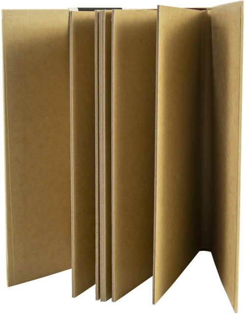 "Prima Memory Hardware Chipboard Album 9""X6.25""X2.75""-Kraft Grand Tall W/6 Pages -994433"