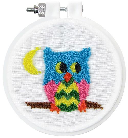 "Design Works Punch Needle Kit 3.5"" Round-Owl -DW224"