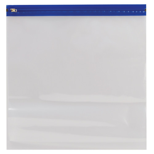 """25 Pack Zipafile Bags-14""""X13"""" Blue -ZF1413-BLUE -"""