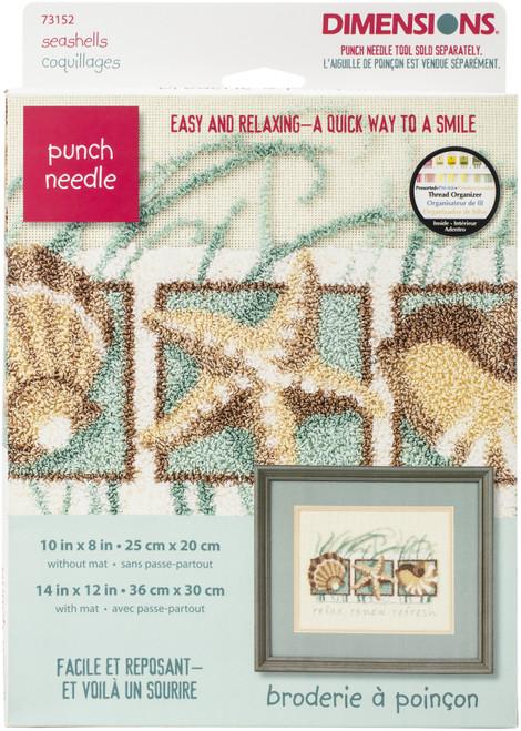 "Dimensions Punch Needle Kit 10""X8""-Seashells -73152 - 088677731526"