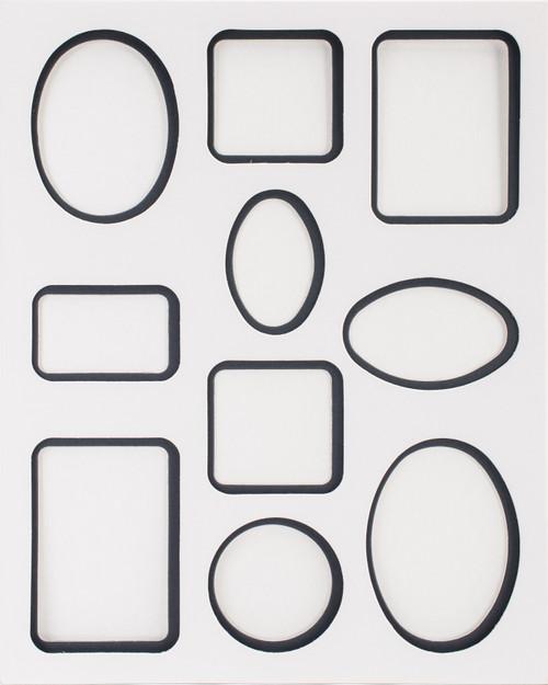"Photo Mat 11""X14"" Double W/Multiple Openings-White W/Black -23613"
