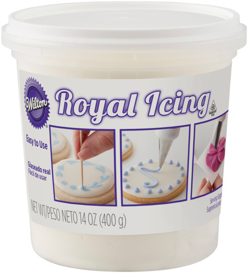 Ready-To-Use Royal Icing 14oz-White -710-1768 - 070896217684