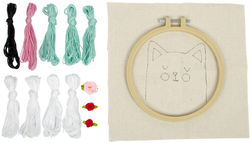 """Fabric Editions Needle Creations Needle Punch Kit 6""""-Cat -NC-PNND6-CAT"""