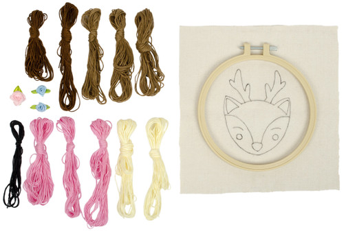"Fabric Editions Needle Creations Needle Punch Kit 6""-Deer -NC-PNND6-DEER"