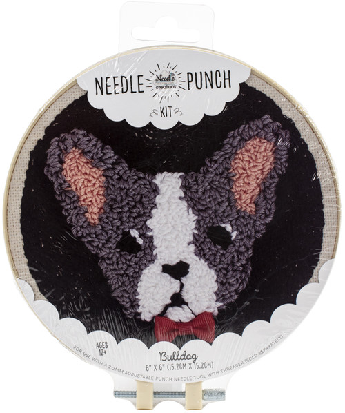"Fabric Editions Needle Creations Needle Punch Kit 6""-Bulldog -NC-PNND6-BULLD - 699919301478"