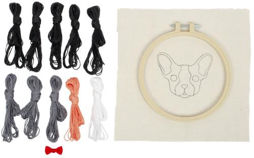 "Fabric Editions Needle Creations Needle Punch Kit 6""-Bulldog -NC-PNND6-BULLD"