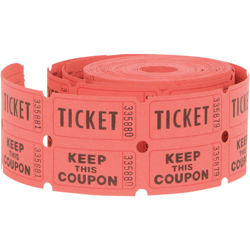 Double Tickets 500 Tickets/Roll-Assorted -90687