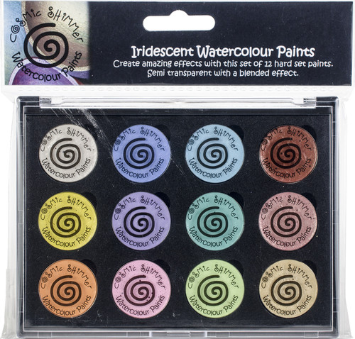 Cosmic Shimmer Iridescent Watercolor Palette Set 8-Perfect Pastels -CSIWPST8 - 5055260911042