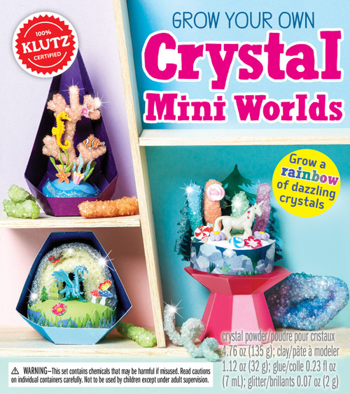 Grow Your Own Crystal Mini Worlds Book Kit-K827123 - 7307672712379781338271232