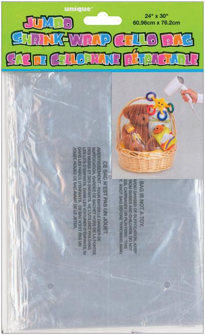 """Jumbo Shrink Wrap Cello Bag 24""""X30""""-Clear -43310 - 011179433100"""