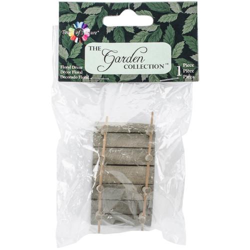 """Micro Mini Garden Bridge 2""""X1""""-Wood -MD55259 - 684653552590"""