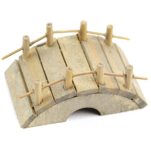 """Micro Mini Garden Bridge 2""""X1""""-Wood -MD55259"""