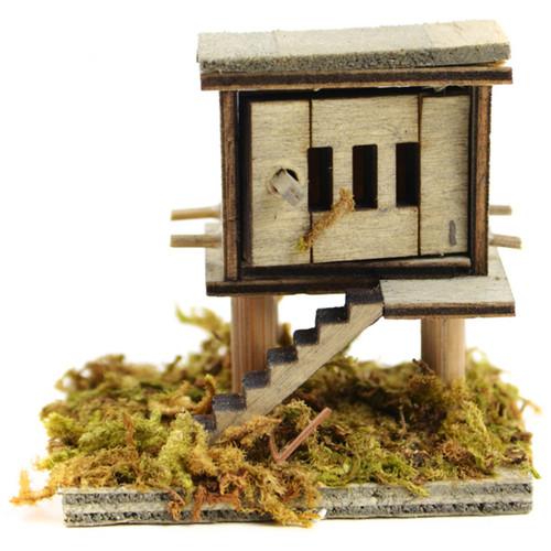 "Micro Mini Garden Chicken Coop 2""X1.75""-Wood -MD55260"